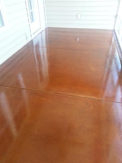acid stain floors